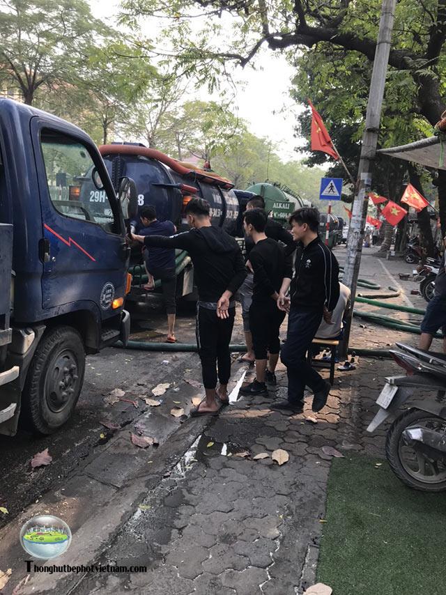 thông hút bể phốt tại Sơn Tây