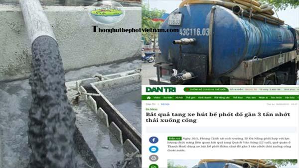 Hút bể phốt xả thải ở đâu? Quy trình xử lý chất thải hầm cầu