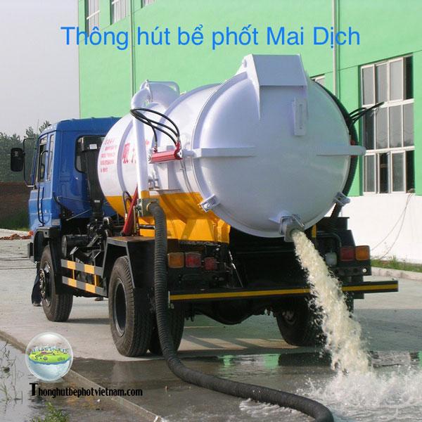 Thông hút bể phốt tại Mai Dịch - Uy tín - An toàn chất lượng - Giá rẻ hợp lý.